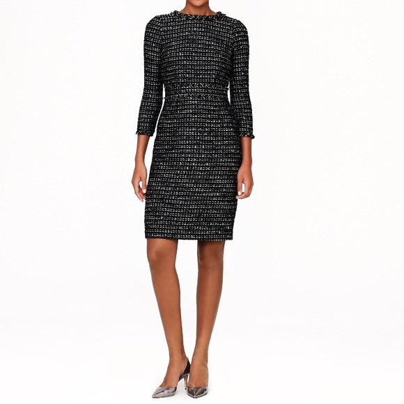 a90b3f7962c J. Crew Dresses   Skirts - J.Crew Collection Sz 4 Black Tweed Dress